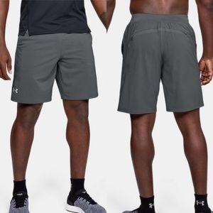 Under Armour Heat Gear Gray Athletic Shorts Sz M
